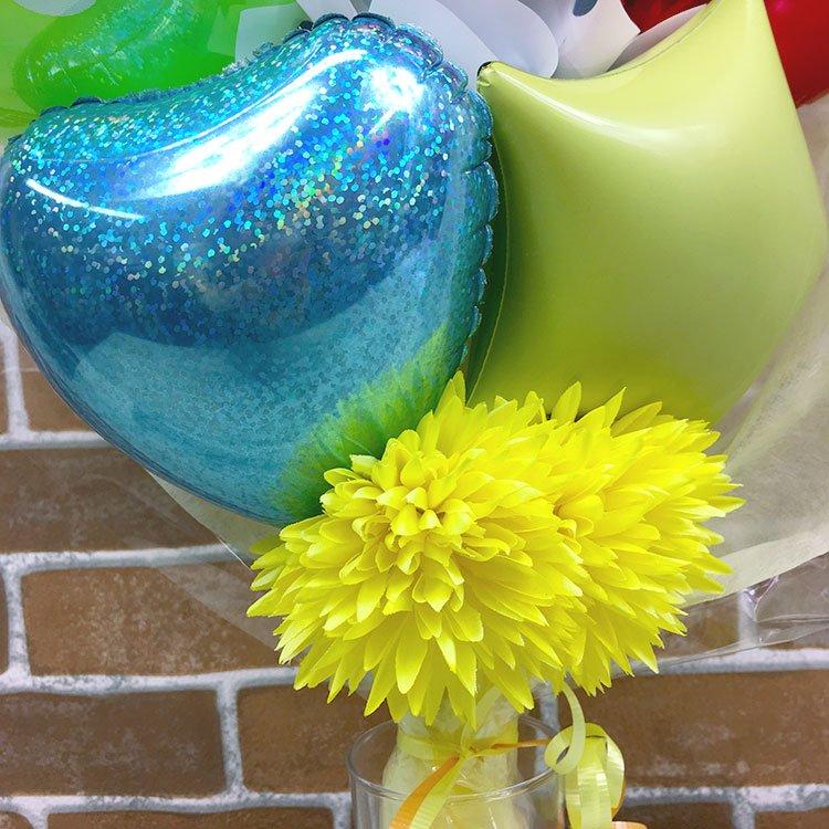 ニコちゃん花束バルーン 誕生祝い バースデー お誕生会 出産祝い 発表会 コンサート 電報 祝電 メッセージ サプライズ 花束 ブーケ バルーンバンチ キャラクター 子供 キッズ 男の子 女の子