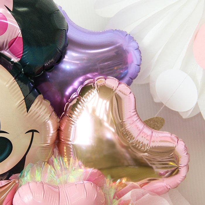 ミニーマウス 誕生祝い バースデー お誕生会 出産祝い 発表会 コンサート 電報 祝電 メッセージ サプライズ 置き型 卓上アレンジ キャラクター 子供 キッズ 男の子 女の子 ディズニー
