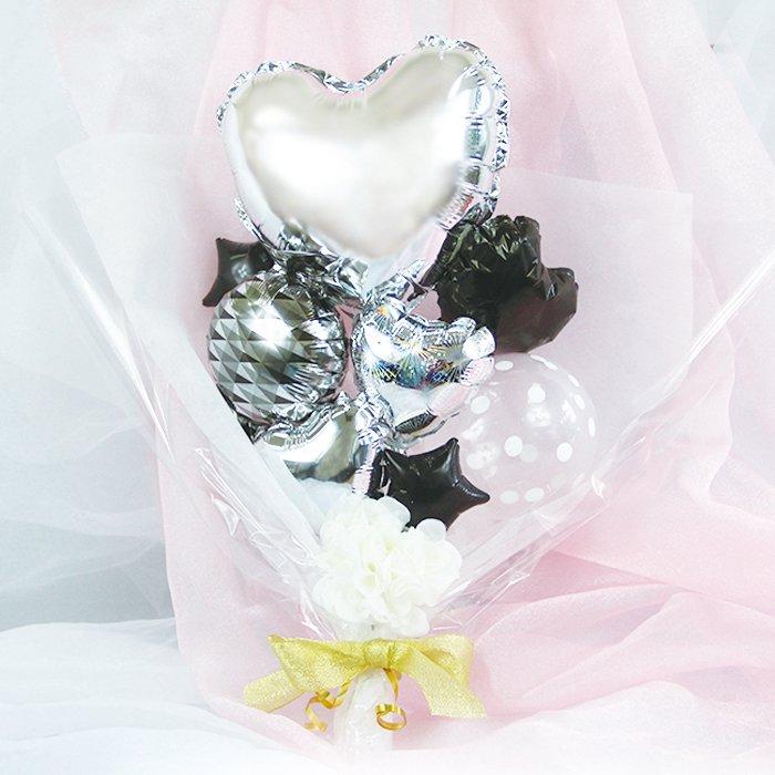 ハート銀 出産祝い 結婚祝い ウェディング 開店祝い 周年祝い 発表会 コンサート 電報 祝電 メッセージ サプライズ 花束 ブーケ バルーンバンチ メッセージ加工