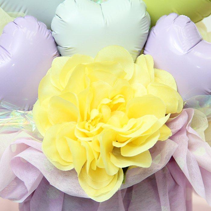 ハート 紫 誕生祝い バースデー お誕生会 出産祝い 結婚祝い ウェディング 開店祝い 周年祝い 発表会 コンサート 電報 祝電 メッセージ サプライズ 置き型 卓上アレンジ