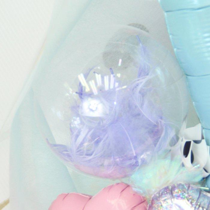 バレエリーナバルーン 水色系 発表会 コンサート 電報 祝電 メッセージ サプライズ 花束 ブーケ バルーンバンチ