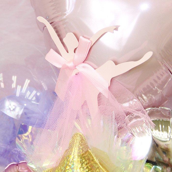 発表会音符ピンクバレー 発表会 コンサート 電報 祝電 メッセージ サプライズ 花束 ブーケ バルーンバンチ