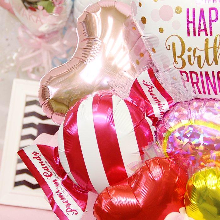 ピンクドットハート ハッピーバースデー 誕生祝い バースデー お誕生会 電報 祝電 メッセージ サプライズ 置き型 卓上アレンジ