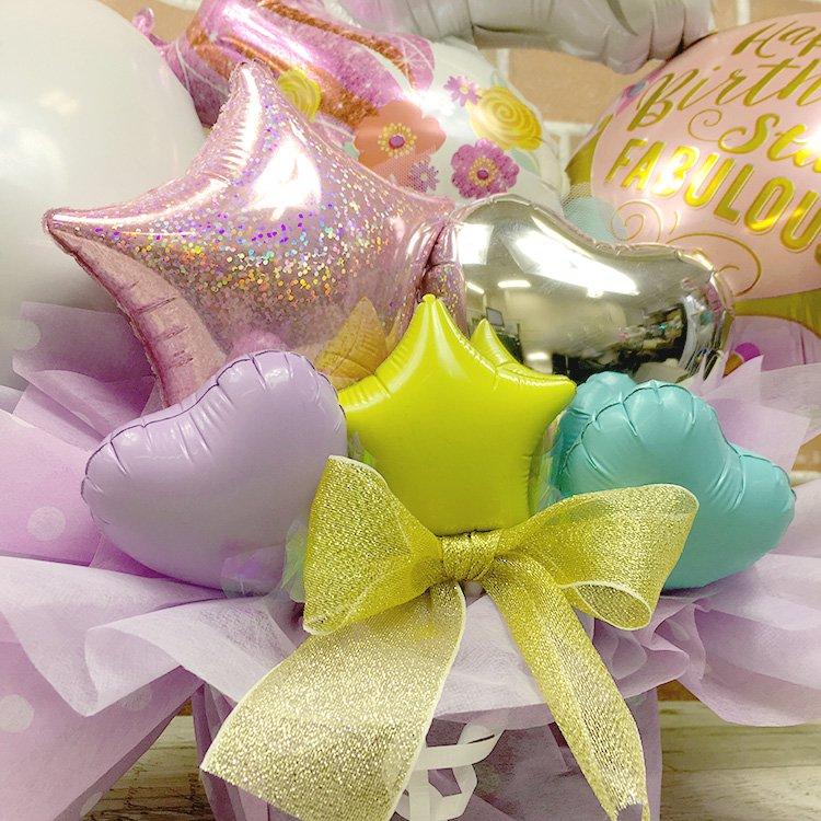 ユニコーンバースデー ピンク系 誕生祝い バースデー お誕生会 電報 祝電 メッセージ サプライズ 置き型 卓上アレンジ キャラクター 子供 キッズ 男の子 女の子