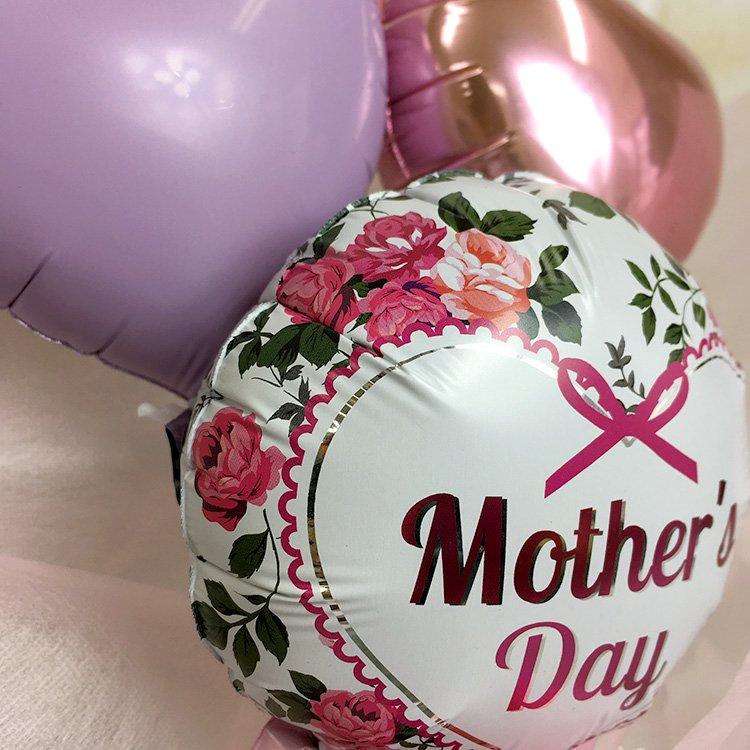 母の日ミニ花束 電報 祝電 メッセージ サプライズ 花束 ブーケ バルーンバンチ プチギフト ミニサイズ