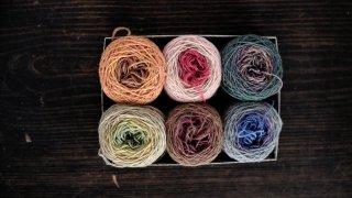 ラトビアの毛糸・箱入りセットH