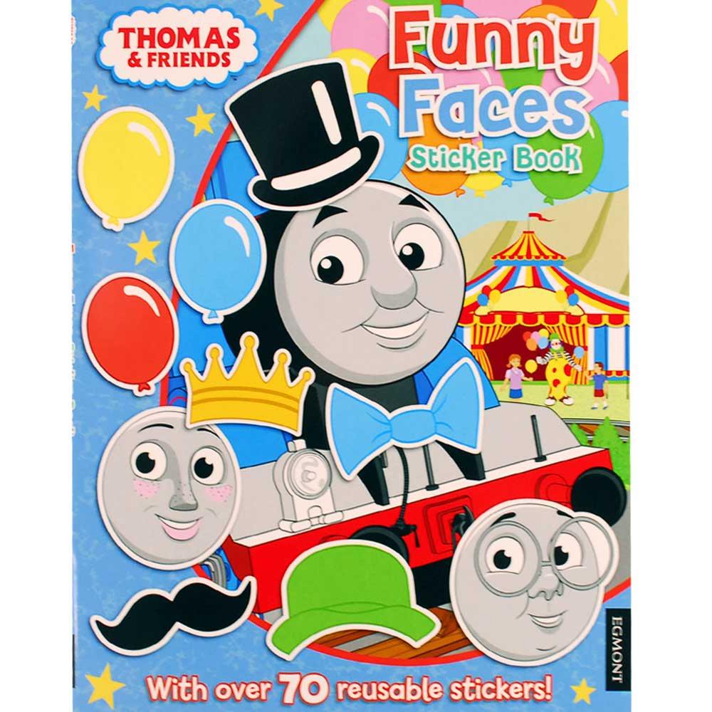 【英語のえほん】Thomas The Tank Engine  Funny Faces Sticker Book  TO グッズ