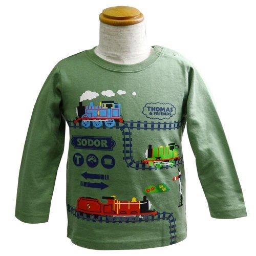 長袖Tシャツ(モスグリーン)95 041TM4011 TO