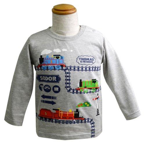 長袖Tシャツ(グレー杢)90 041TM4011 TO