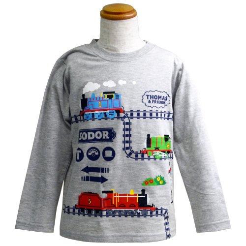 長袖Tシャツ(グレー杢)110 041TM4011 TO