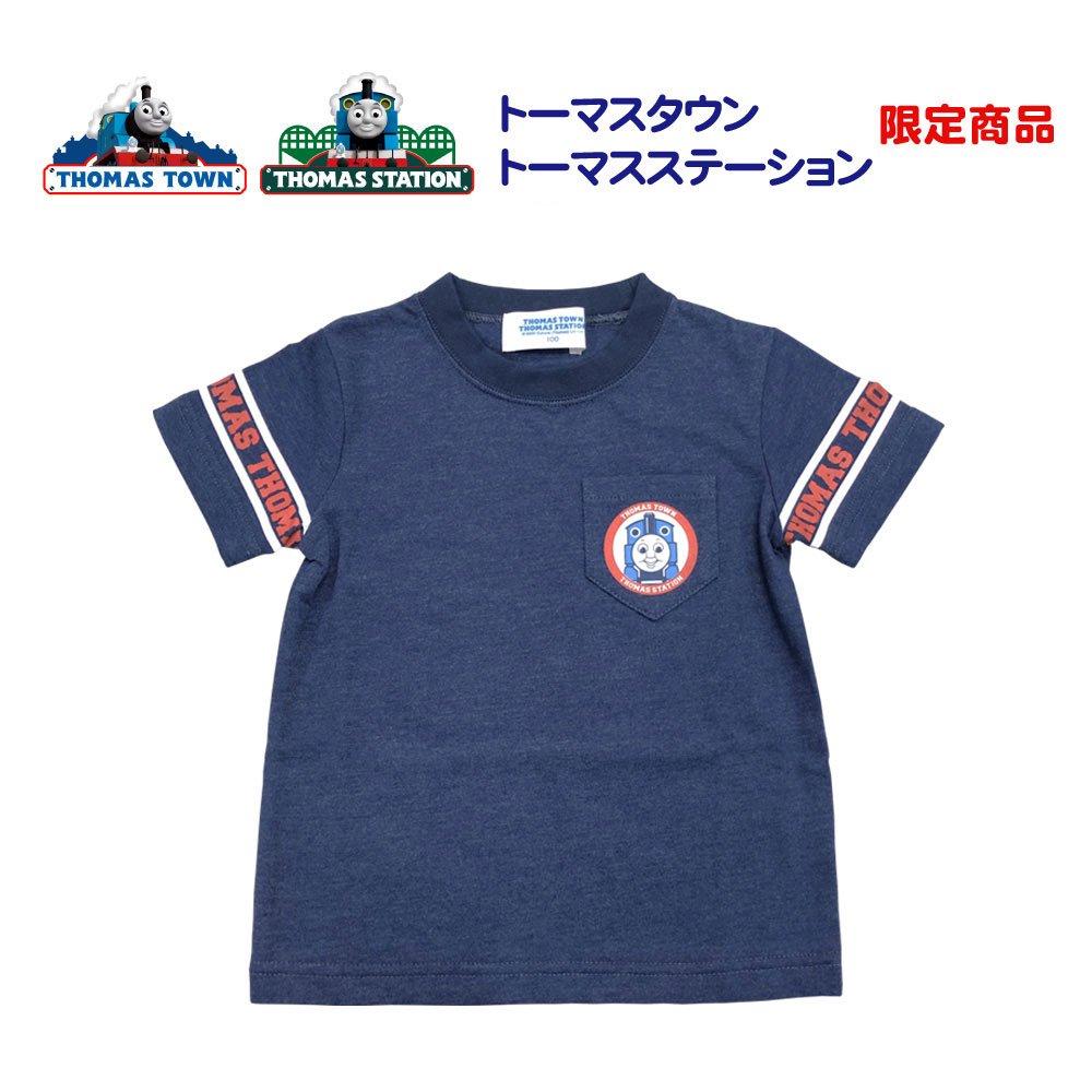 ピングー <img class='new_mark_img1' src='https://img.shop-pro.jp/img/new/icons58.gif' style='border:none;display:inline;margin:0px;padding:0px;width:auto;' />ユニフォーム風Tシャツ(ネイビー)100cm TO