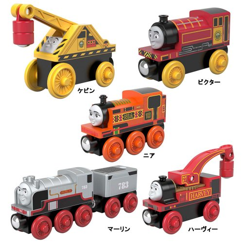 【木製レール限定セット】「楽しくてユーモアのある機関車」5点セット  TO