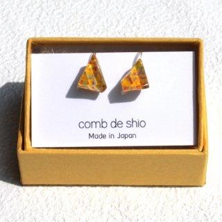 伊勢志摩シリーズ・1点ものガラスイヤリング「花/Flower」 箱付