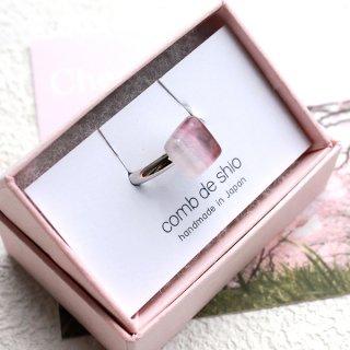 伊勢志摩シリーズ・1点ものガラスリング「桜/Cherry Blossom」 箱付