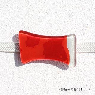 1点ものガラスの帯留め「KOI」|箱付