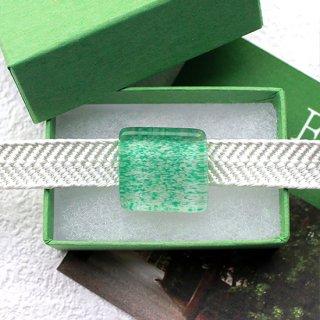 伊勢志摩シリーズ・1点ものガラスの帯留め「森/Forest」|箱付