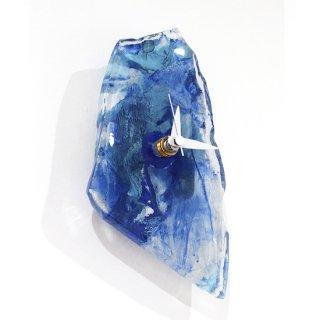ガラスアート時計「紫陽花の時」