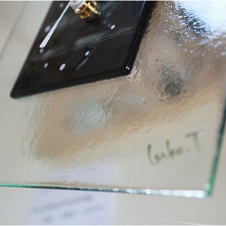 ガラスアート時計・「静かな夜」