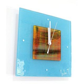 ガラスアート時計・「窓と夕凪」