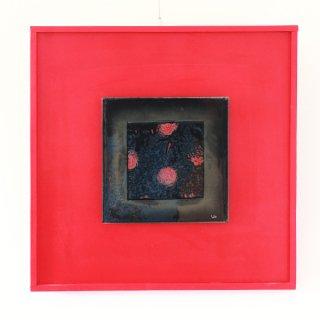 アートガラスパネル「Red Pointhing」