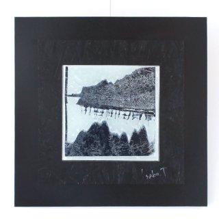 アートガラスパネル「雪景色」