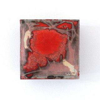 アートガラスパネル「Red block」