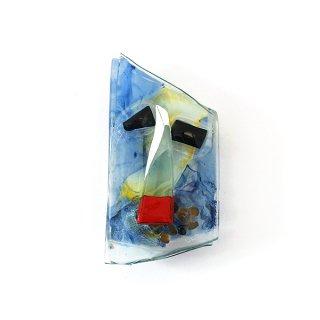 ガラスオブジェ「顔」シリーズ|壁掛けタイプ