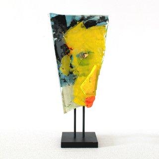 ガラスオブジェ「顔」シリーズ|壁掛け・アイアンスタンド両用タイプ