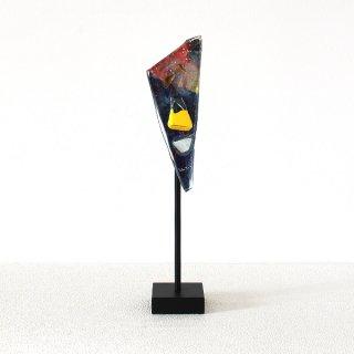 ガラスオブジェ「顔」シリーズ|アイアンスタンドタイプ