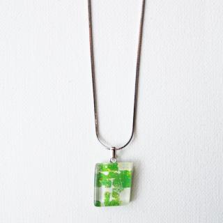 伊勢志摩シリーズ・1点ものガラスペンダント「森/Forest」|箱付