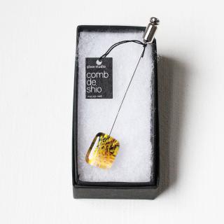 伊勢志摩シリーズ・1点ものガラスのハットピン「花/Flower」|箱付|男女兼用