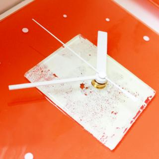 ガラスアート時計「太陽と雲の物語」