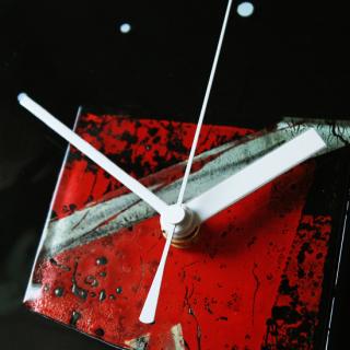 ガラスアート時計「太陽の窓」