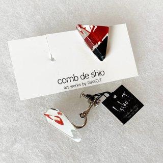1点ものガラスイヤリング|Japanese Modern|箱付