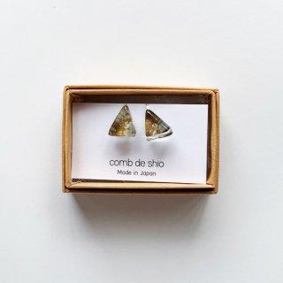 伊勢志摩シリーズ・1点ものガラスイヤリング「山/Mountain」|箱付
