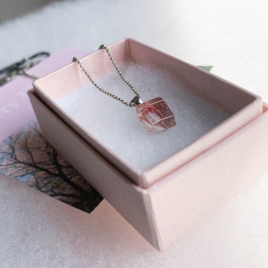 伊勢志摩シリーズ・1点ものガラスペンダント「桜/Cherry Blossom」|箱付