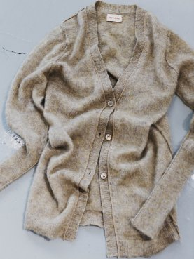 REVERSIBLE FLUFFY LONG CARDIGAN
