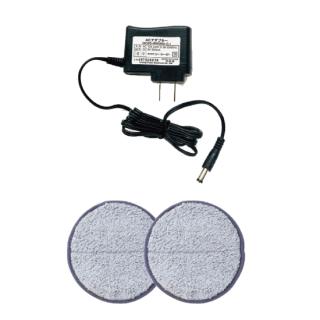 ACアダプターとモップパッド(グレー)セット