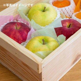 季節のおまけフルーツ入り半切箱(新箱)※取手付、表面加工あり、フタ付