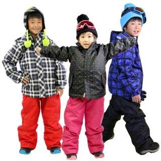 スキーウェア キッズ ジュニア 上下 セット VAXPOT(バックスポット) 子供 スキー ウエア 上下セット VA-2028【耐水圧 2000mm 撥水加工 雪遊び ウエア キッズ】