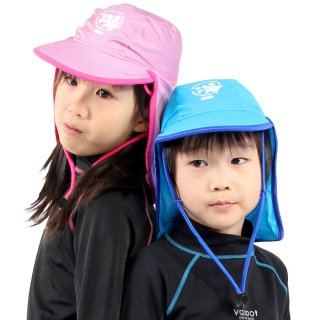 ラッシュガード 帽子 キッズ 男の子 女の子 VAXPOT(バックスポット) ラッシュガード キャップ 子供用 VA-4802【UV UVカット ジュニア フラップキャップ ラッシュキャップ 帽子】