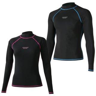 ラッシュガード レディース メンズ 長袖 UPF50+ VAXPOT(バックスポット) ラッシュガード 長袖 VA-4011【UV UVカット】【ラッシュトレンカ サーフパンツ と合わせて】