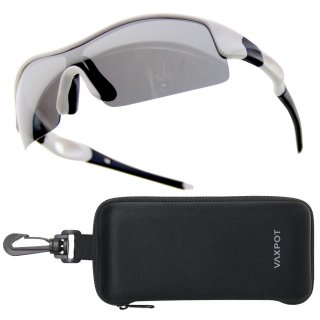 サングラス 偏光 ケース セット メンズ レディース UVカット VAXPOT(バックスポット) スポーツサングラス セミハードケース セット EG-3990【偏光レンズ ミラーレンズ】