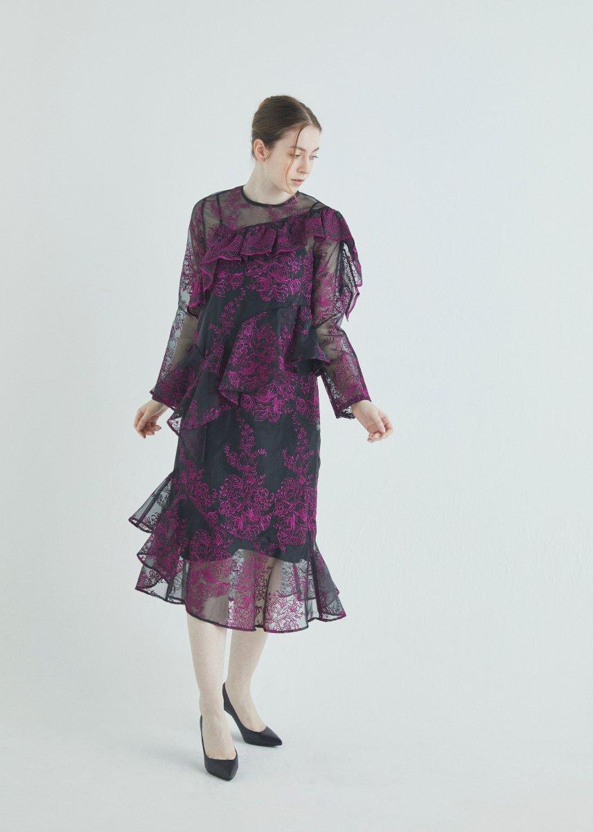 Randomly frilled dress