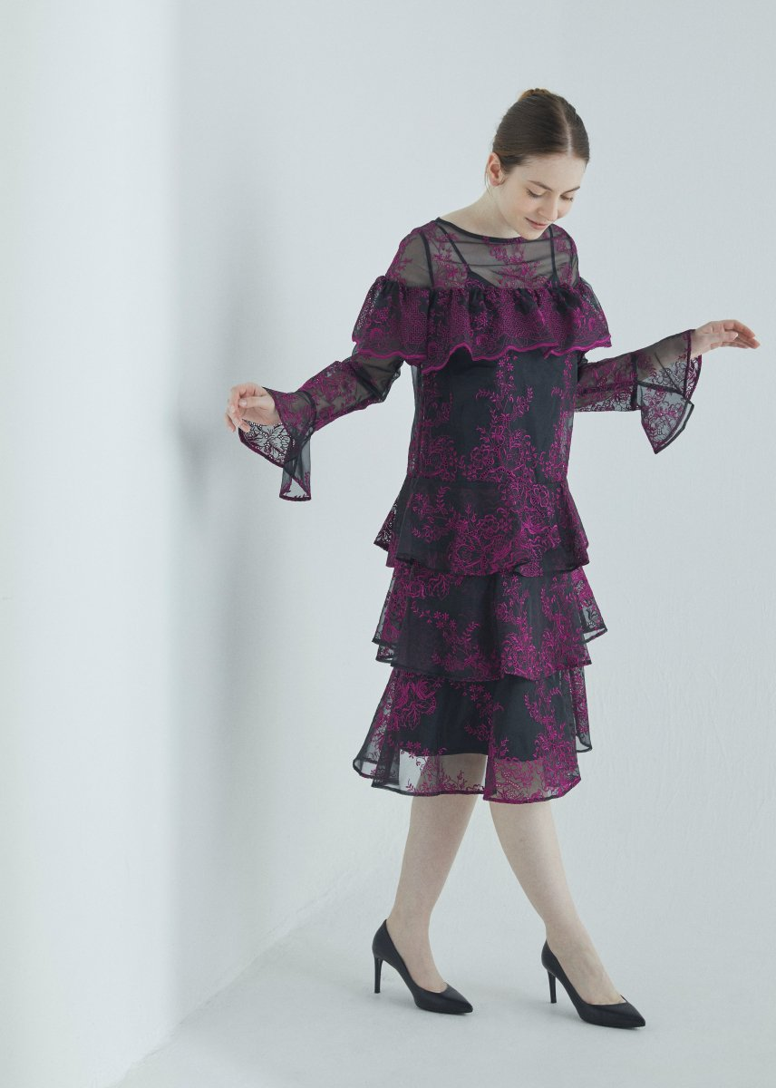 Tiered frilled dress