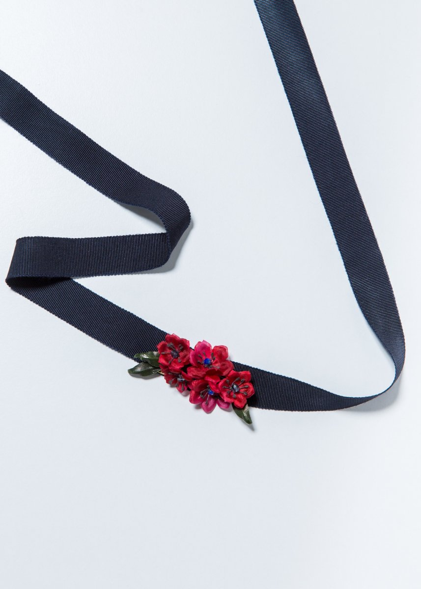 Red flower choker (2way)