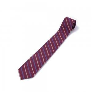 ネクタイ/縞模様 臙脂色