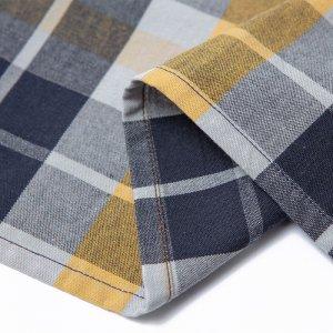 二〇(にまる)ハンカチ/布団縞 重ね格子 淡黄