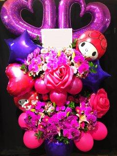 商品ID 0351 バルーンスタンド ピンク・紫系 2段