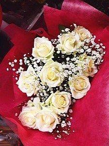商品ID 0516 花束 白バラ